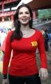 Sunny Leone @ CCL 4 Telugu Warriors vs Kerala Strikers Match Stills