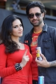 Sunny Leone @ CCL 4 Telugu Warriors vs Kerala Strikers Match Stills