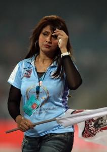 Pakhi Hegde @ CCL 4 Veer Marathi Vs Bhojpuri Dabanggs Match Photos