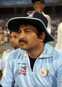 Manoj Tiwari @ CCL 4 Veer Marathi Vs Bhojpuri Dabanggs Match Photos