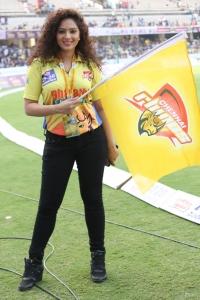 Nikesha Patel @ CCL 6 Kerala Strikers Vs Chennai Rhinos Match Photos