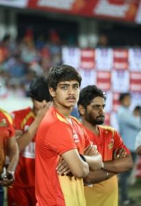 Roshan Srikanth @ CCL 6 Telugu Warriors vs Karnataka Bulldozers Match Stills