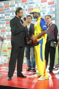 Man of the Match : Vikranth at CCL Final Match 2012 Stills