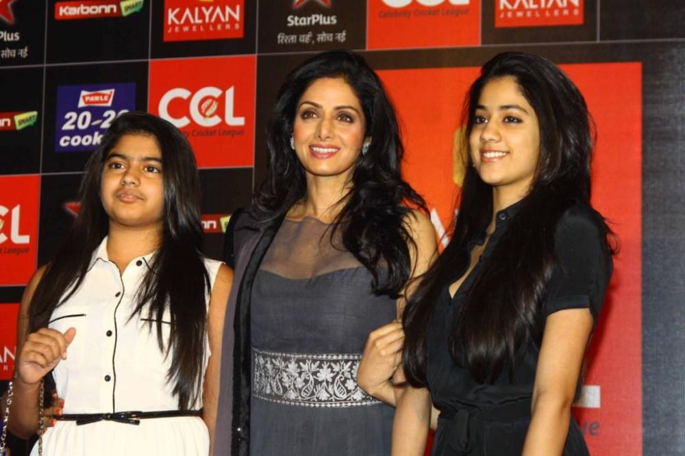 Sridevi with Daughters Jhanvi & Khushi Kapoor at CCL Season 3 Curtain