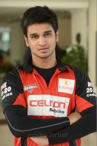 Actor Nikhil in CCL Telugu Warriors Team Members 2013 Photos
