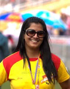 Varalaxmi @ CCL4 Mumbai Heroes Vs Chennai Rhinos Match Photos