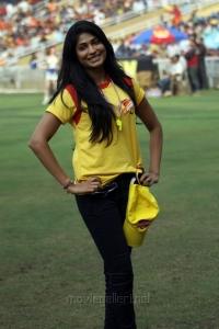 Vijayalakshmi @ CCL4 Mumbai Heroes Vs Chennai Rhinos Match Photos