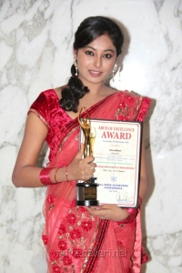 Actress Arundhati with All India Achievers Conference Award