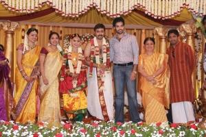 Sibiraj with wife Revathy at Sneha & Prasanna Wedding Photos