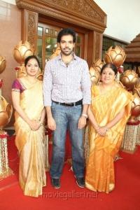 Sibiraj with wife Revathi, Sathyaraj wife Maheswari
