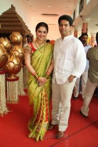 Sridevi Vijaykumar with Husband Rahul at Sneha & Prasanna Wedding Function Stills