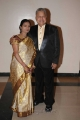 Radha Ravi with Wife at Tania and Hari Wedding Reception Stills