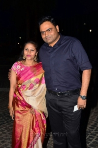 Vamsi Paidipally wife Malini at 64th Filmfare Awards South 2017 Red Carpet Photos