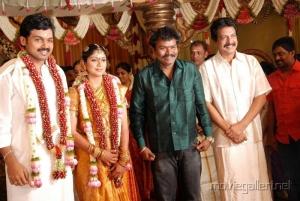 Director Hari, Nizhalgal Ravi @ Actor Karthi Ranjani Marriage Photos