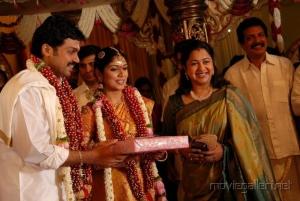 Radhika Sarathkumar @ Actor Karthi Ranjani Marriage Photos