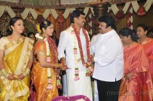 Prabhu, Punitha @ Actor Karthi Ranjani Marriage Photos