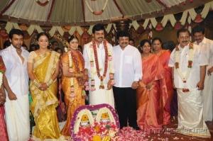 Suriya, Jyothika, Sivakumar @  Karthi Ranjani Marriage Photos
