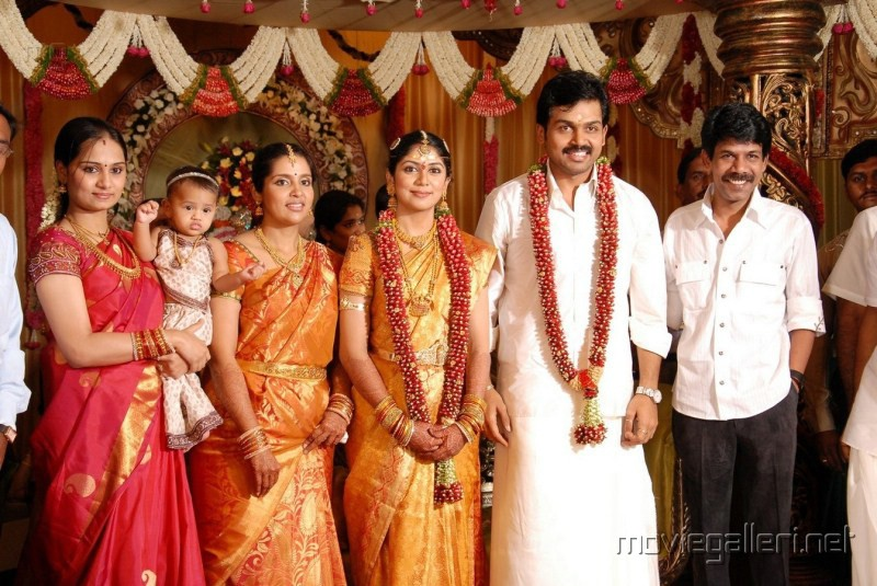 Director Bala With His Wife At Karthi Ranjani Marriage Photos