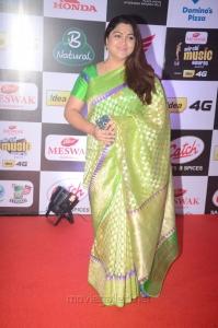 Actress Kushboo @ Mirchi Music Awards South 2015 Red Carpet Photos