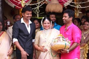 Actor Vijay @ Shobi - Lalitha Baby Shower Function Stills