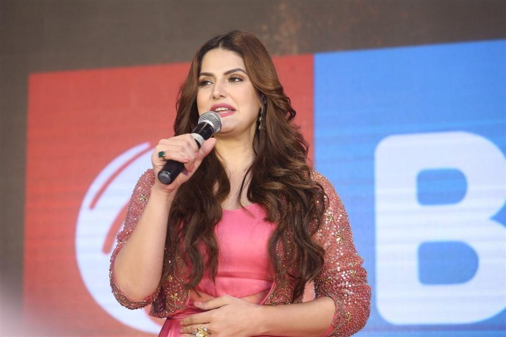 Actress Zareen Khan @ Chanakya Movie Trailer Launch Photos