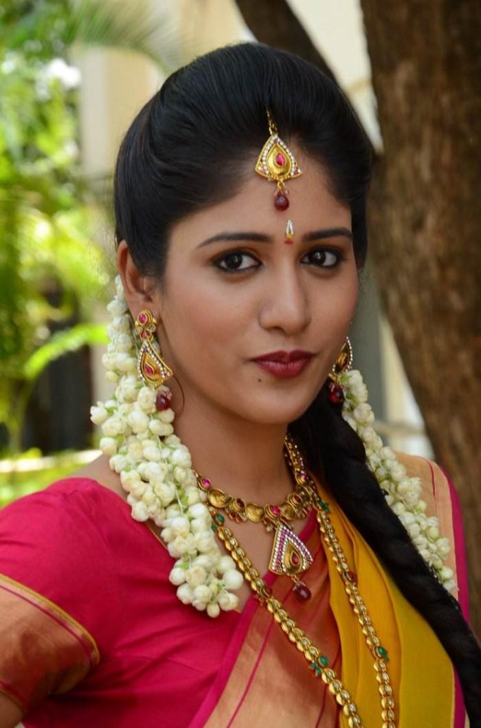 Actress Chandini Chowdary in Silk Saree Photos