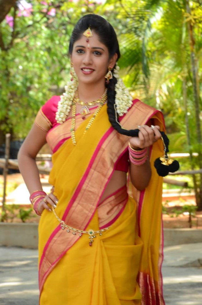 Actress Chandini Chowdary in Silk Saree Photos