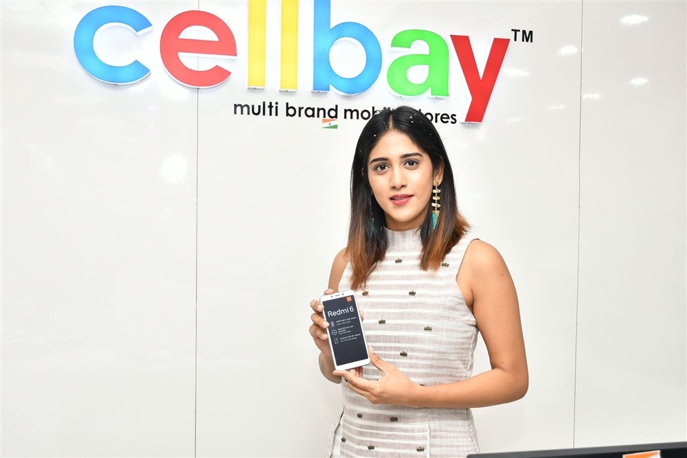 Chandini Chowdary launches Redmi 6 at Cellbay, Hyderabad