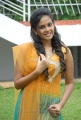 Beautiful Chandini in Yellow Dress at Kaali Charan Movie Launch