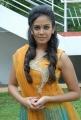 Beautiful Chandini in Yellow Dress at Kali Charan Movie Launch