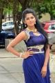 Telugu Actress Charishma Shreekar New Pics in Blue Dress