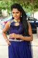 Telugu Actress Charishma Shreekar in Blue Dress Pics