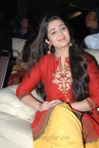 Telugu Actress Charmi in Red Dress Cute Stills
