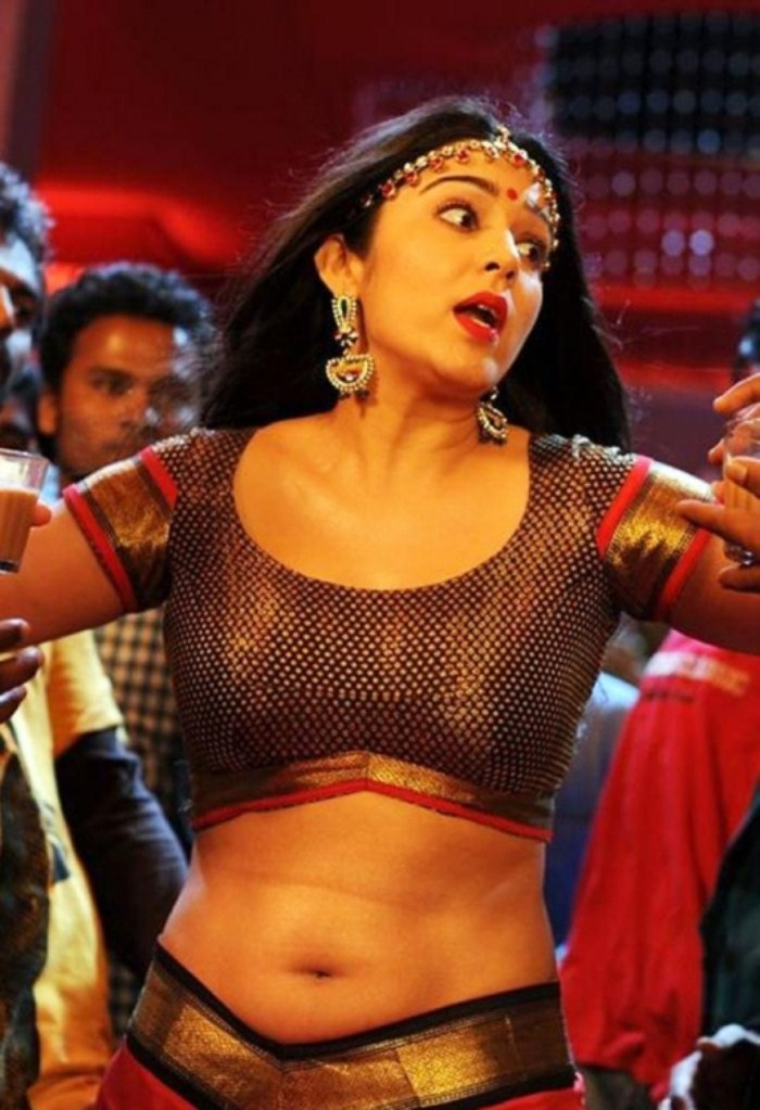 Actress Charmi Hot Photos in Damarukam Sakkubai Song