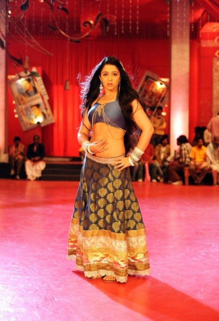 Actress Charmme Hot Photos in Damarukam Sakkubai Song
