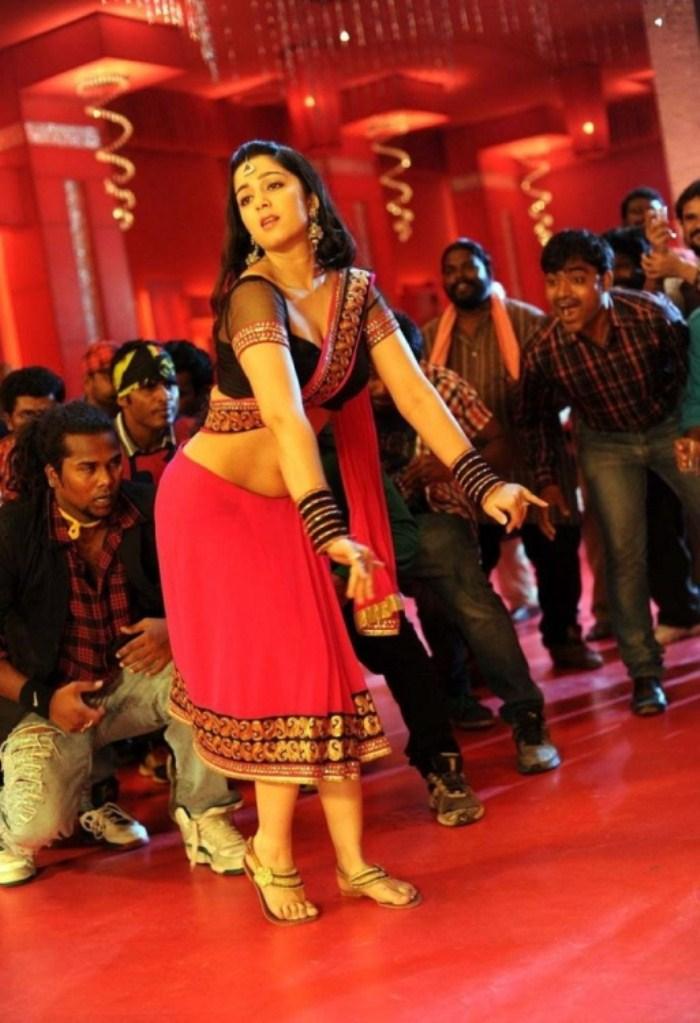 Actress Charmme Hot Stills in Damarukam Sakkubai Song