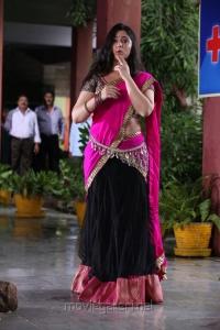 Actress Charmi Cute Photos in Pink Saree @ Saradaga Ammaitho