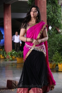 Cute Charmi in Pink Langa Voni Photos