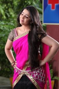 Cute Charmi Kaur in Pink Langa Voni Photos