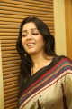 Actress Charmme Stills in Multi Color Printed Saree