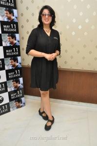 Actress Charmme in Black Dress Stills