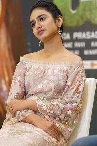 Actress Priya Varrier @ Check Movie Press Meet Stills