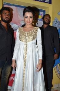 Trisha @ Cheekati Rajyam Premiere Show at Prasads Imax, Hyderabad