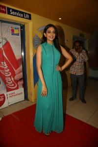 Rakul Preet Singh @ Cheekati Rajyam Premiere Show at Prasads Imax, Hyderabad
