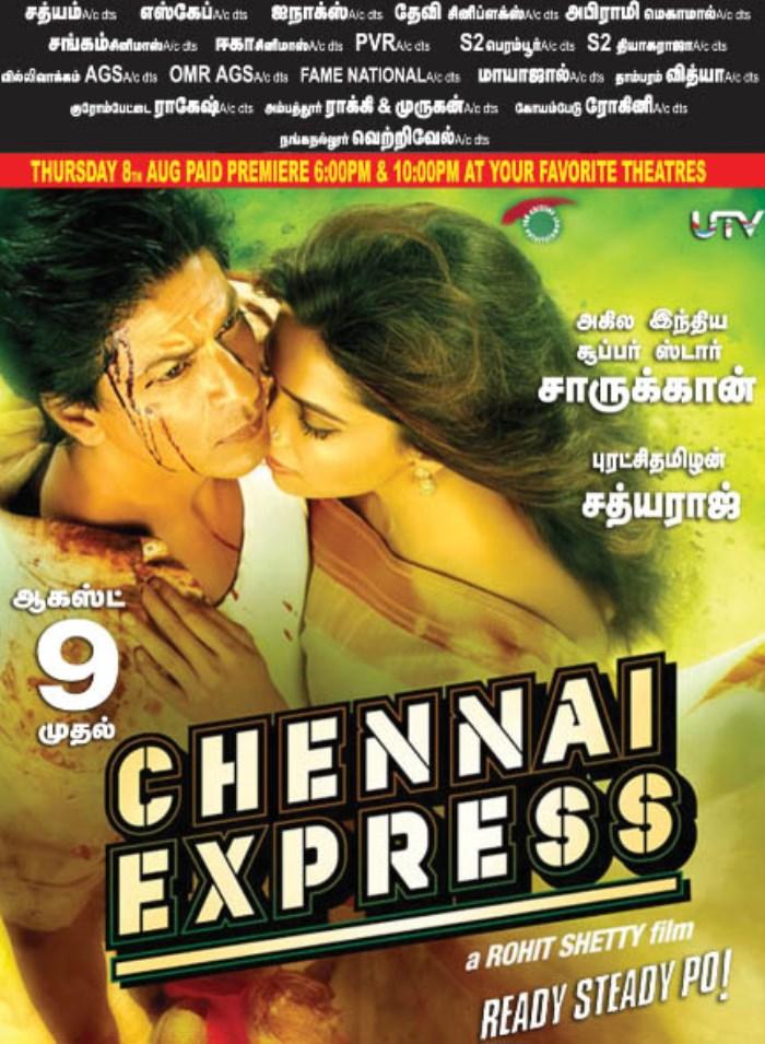 Chennai Express Movie Release Posters   Shahrukh Khan ...