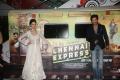 Deepika Padukone, Shahrukh Khan at Chennai Express Trailer Launch Stills