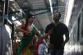 Deepika Padukone, Rohit Shetty at Chennai Express Shooting Photos