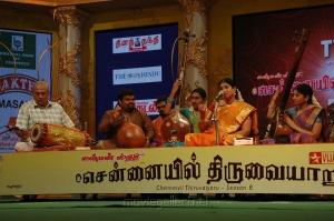 Nithyasree Mahadevan Vocal at Chennaiyil Thiruvaiyaru Season 8 Photos