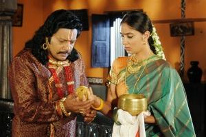 Sai Kumar, Bhanu Mehra in Chilkur Balaji Movie Latest Images