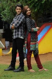 Sanchita Padukone, Manoj Nandan in Chinababu Telugu Movie Stills